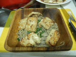 Ginger Scallion Noodles with Tofu 009