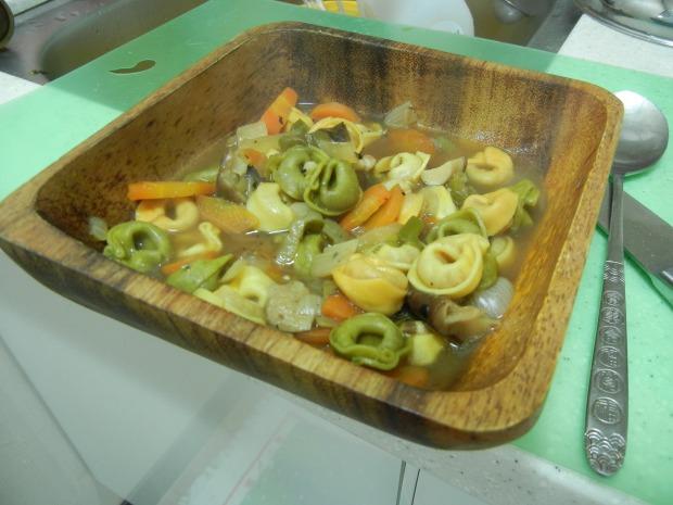 Mushroom Tortellini Soup 006