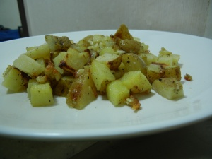 Paris Mushrooms Salad with Lemon AND Parmesan Roasted Potatoes 015