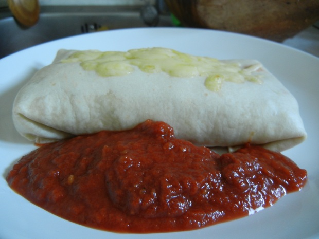 Simple Breakfast Burrito 010