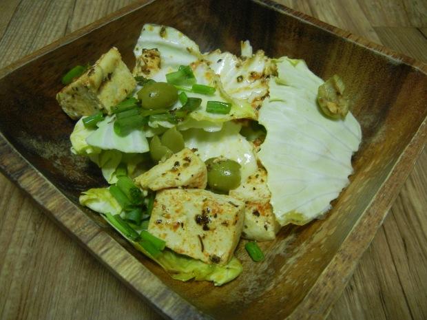 Lemon Tofu and Olive Salad 008