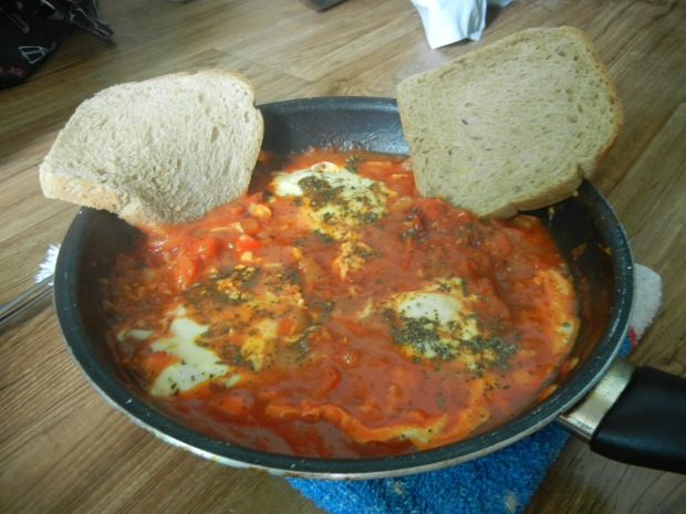 Eggs Poached in Tomato Sauce 007